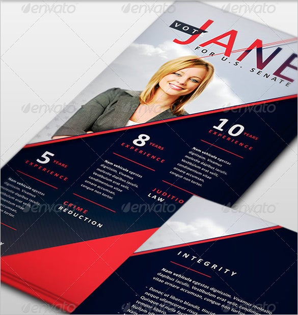 palm card template for politician download