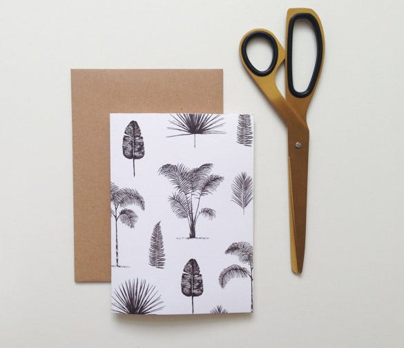 amazing palm card template download