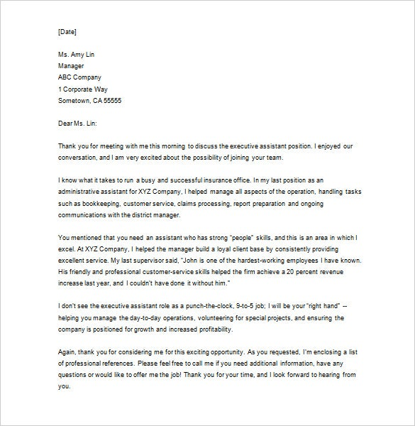 Download Business Thank You Letter Template After Interview