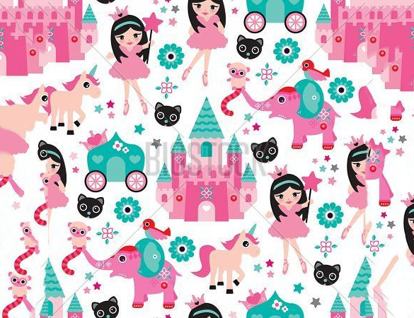 extravagant girly pattern free download