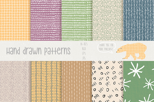 30 hand drawn premium pattern for you