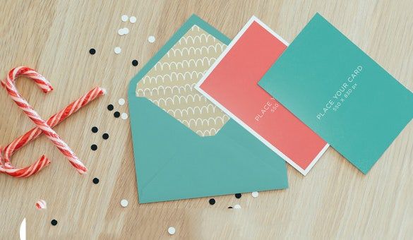 psd holiday card template download