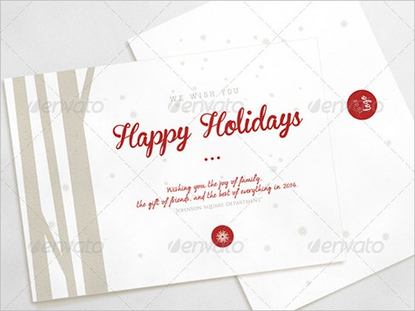 happy psd holiday card template download has a modern touch to its design with minimalistic features with 2 psd files and customizable colour changing and - Holiday Pictures To Download