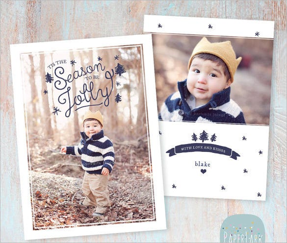 beautiful template for holiday card download