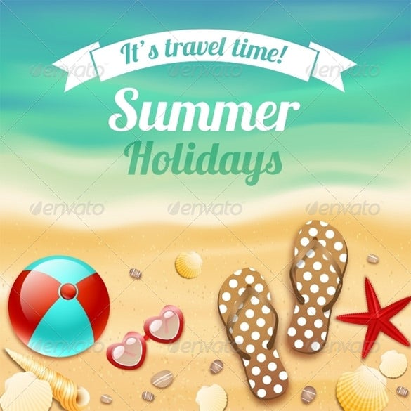 holiday card template for summer