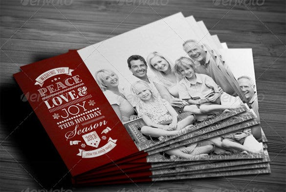 photoshop holiday card template download