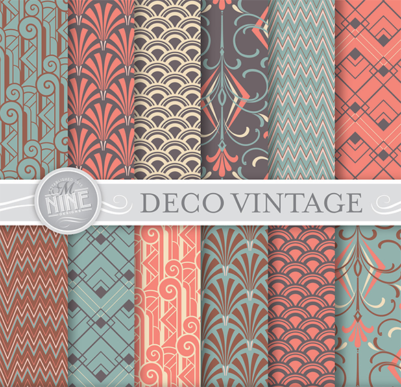 vintage art deco premium patterns