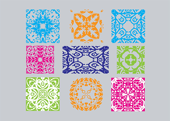 free extravagant art deco pattern