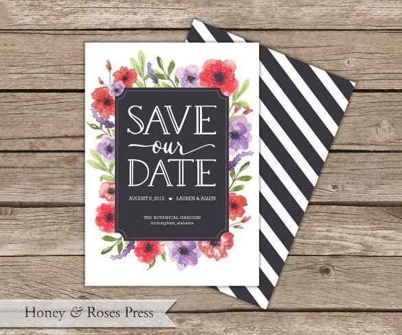 wedding announcement card template download