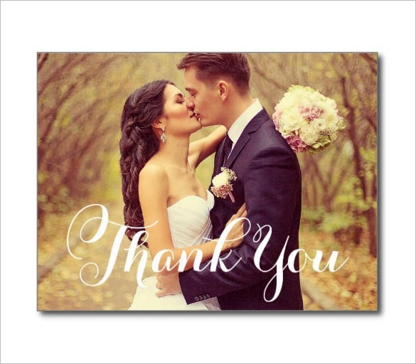 beautiful thankyou wedding card template