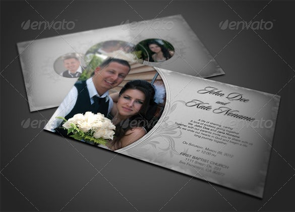 psd wedding invitation card template