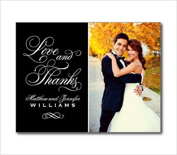 sample wedding card thankyou template