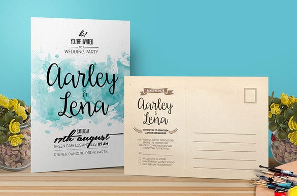 beautiful wedding card template download