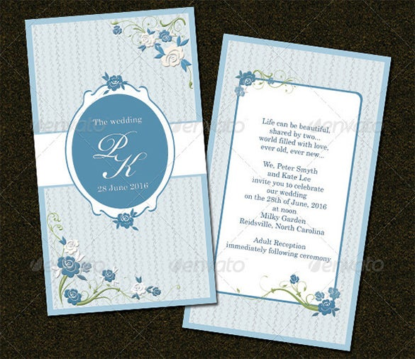 wedding card psd template download
