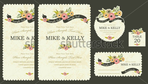 example of wedding card template download