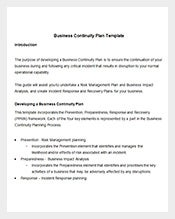Business Plan Template Free Sample Example Format Download - Business continuity plan template for construction company