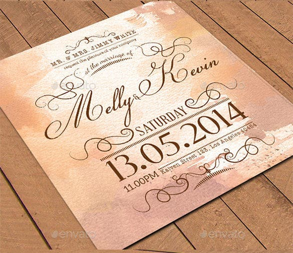 Psd Wedding Place Card Template
