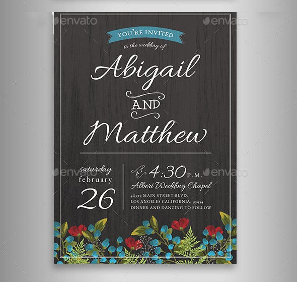 photoshop card template for wedding place