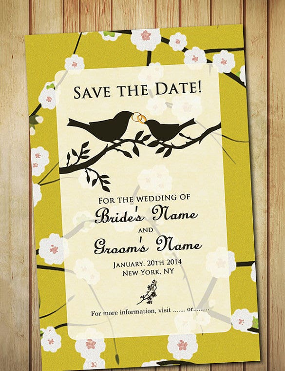 save the date wedding place card template