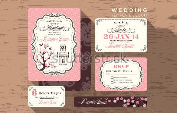 wedding place card example template download
