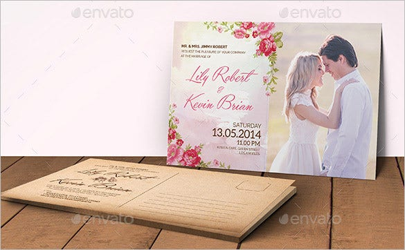 photoshop psd wedding place card template