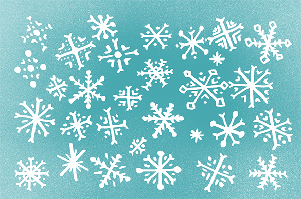 30 snow flake brushes premium download
