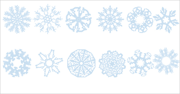 12 free snowflake photoshop brushes download