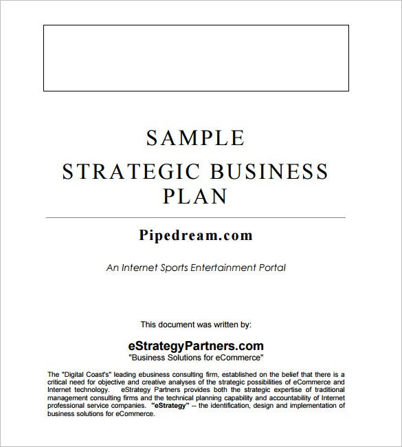 Strategic business plan templates accmission