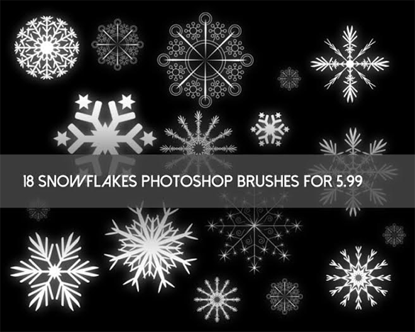18 awesome snowflake brushes for download