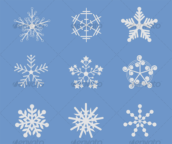 24 premium vector snowflake brushes for you