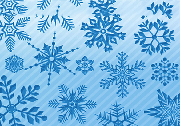 20 abstract free snowflake brushes download