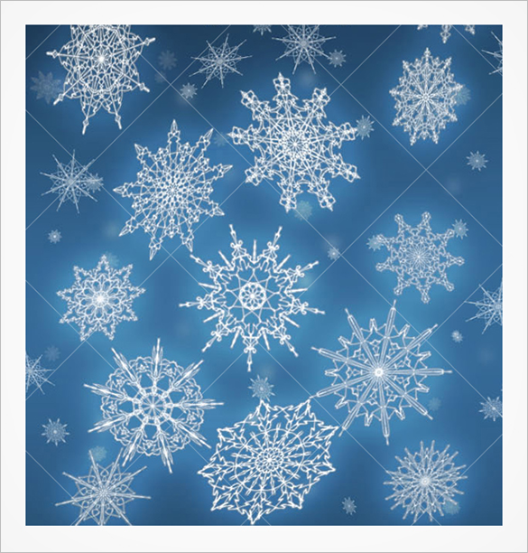 20 beautiful snowflake brushes for download