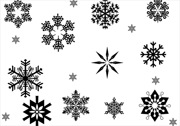12 extraordinary free snowflake brushes