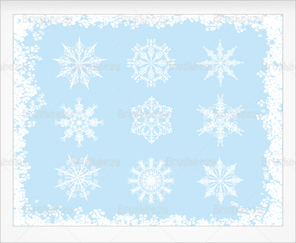 9 ornate snowflake brushes for you