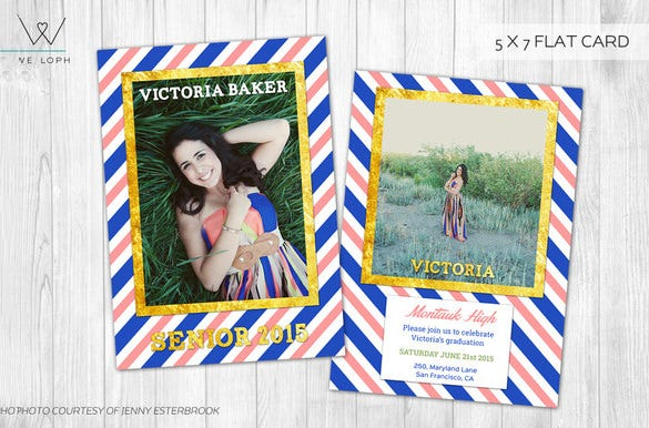 amazing psd template for graduation card