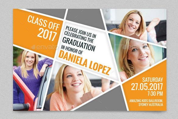 photoshop graduation party card template