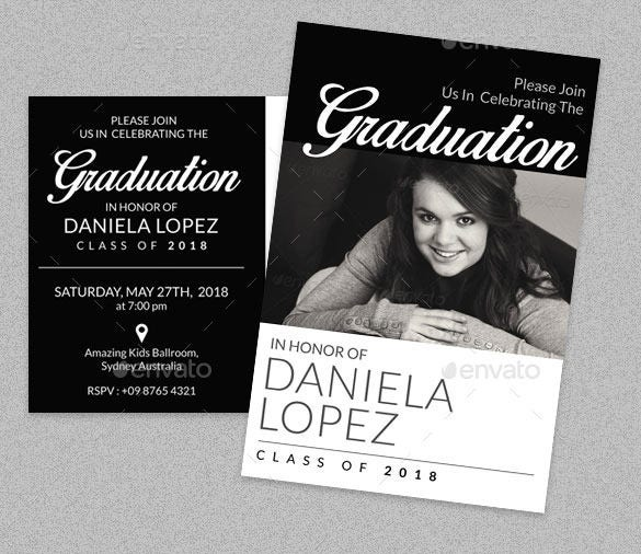Graduation Card Template – 23+ Free Printable, Sample, Example