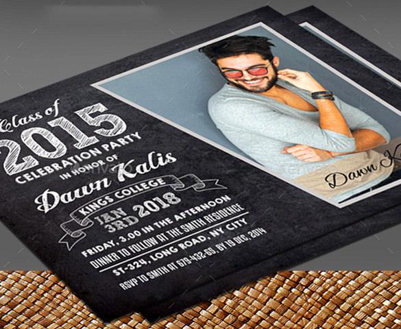 beautiful graduation card psd template