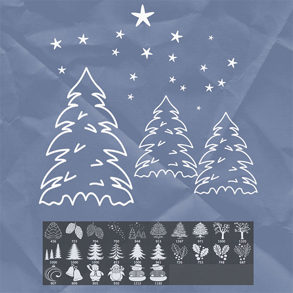 26 christmas tree brushes free download