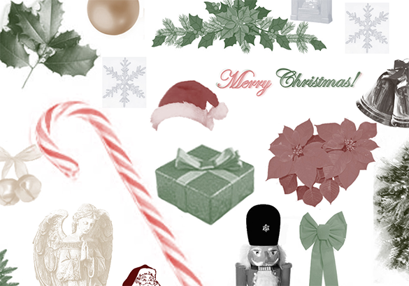 40 amazing christmas brushes for free