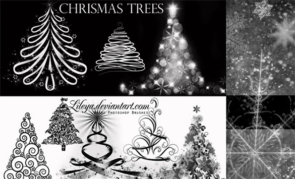 500 free christmas brushes download
