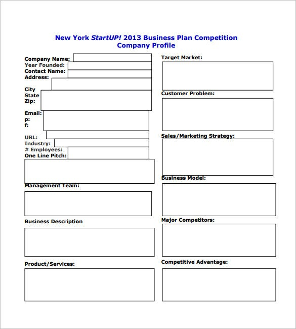 Business plan for startup business template pdf