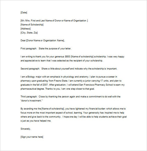 how to write a business thank you letter template