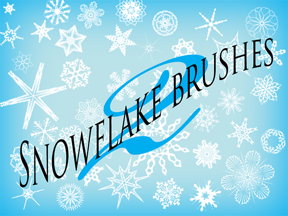 101 snowflake brushes for free download