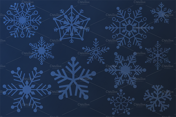 20 awesome snowflake brushes premium download