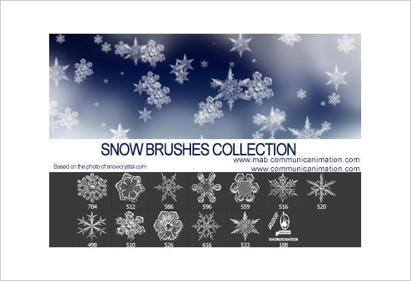 13 free snowflake brushes for you