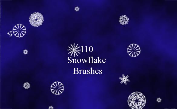 110 astonishing snowflake brushes free download