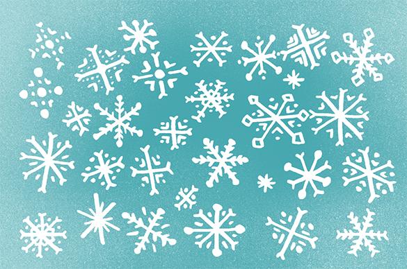 30 flawless premium snowflake brushes foe you