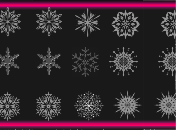 40 excellent snowflake brushes free download
