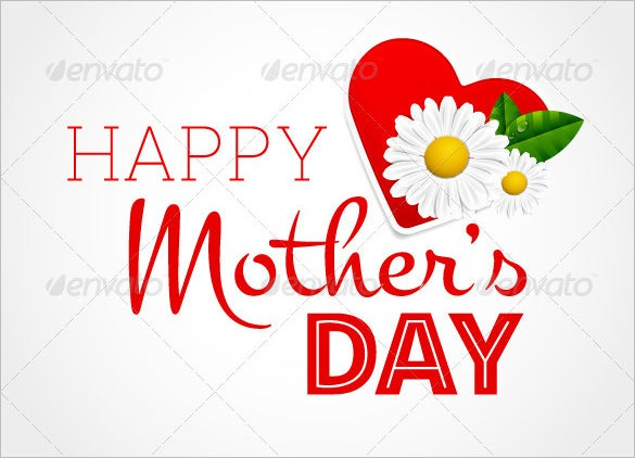 vector eps mothers day card template
